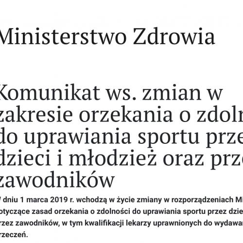 ROZPORZĄDZENIE MINISTRA ZDROWIA z dnia 27 lutego 2019 r.